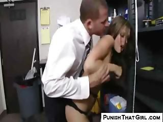 Naughty Employee Punished By Boss