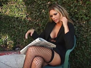 Amazing Fishnet  Outdoor Pornstar Stockings