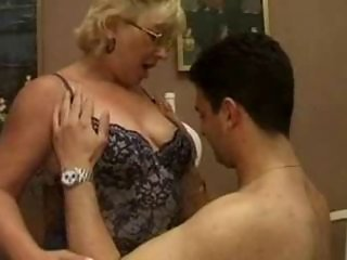 his tutor is a hottest mature whore that loves cock