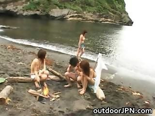 Asian Babe Beach Groupsex Outdoor