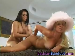 Busty Lesbians are licking and dildoing part6