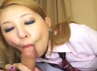 Asian Blowjob Small cock Student Teen Uniform