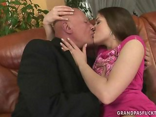 Teen Kissing Old and Young Daughter Daddy
