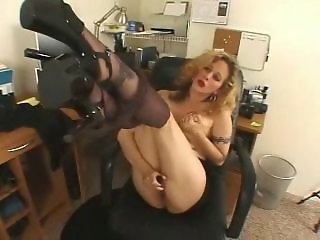 Amateur Legs Masturbating  Office Pantyhose Secretary