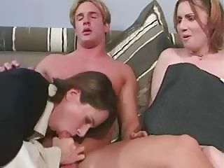 Blowjob  Mom Old and Young Threesome