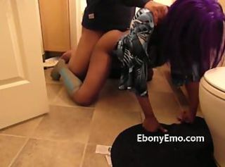 Ebony Emo On Her Knees Doggy Style