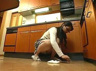 Asian Daughter Kitchen Upskirt