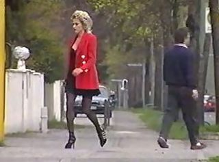 European French  Outdoor Public Stockings