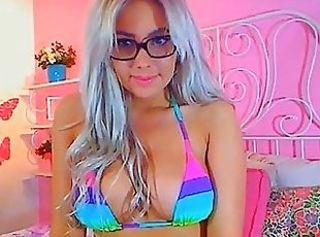 Busty Blonde Babe in Glasses Cam Girls