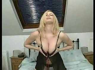 Amazing Blonde Lingerie  Natural Solo