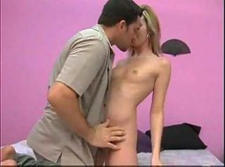 Young teen Corina Taylor having her first porn-star practice
