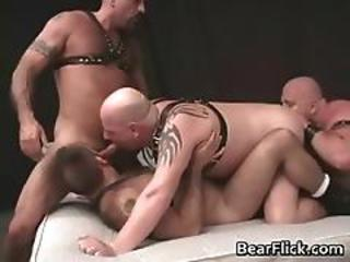 Four Kinky Bear Guys Having Extreme Homo