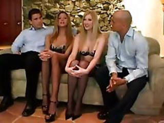 Amazing Groupsex  Stockings Swingers