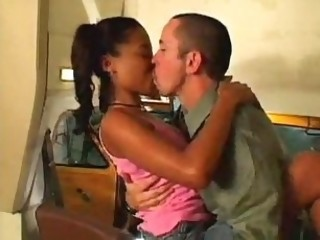 Car Ebony Kissing Teen