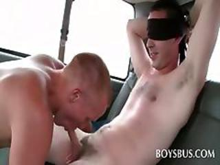 Excited Cute Guy Getting Gay Oral Sex In The Boysbus
