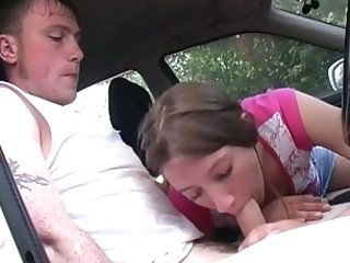Nubile cutie teen girl fucked in car