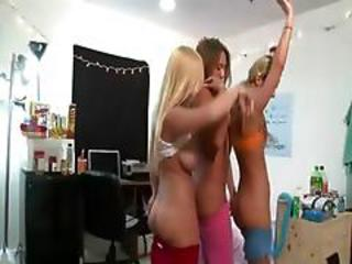 Two Horny College Girls Getblowjob Dick