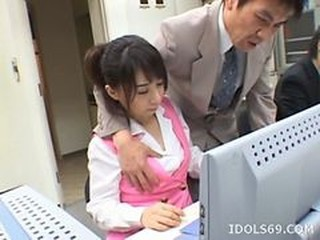 Yuuka oosawa . cute japanese office does blowjob
