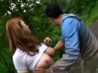 Asian Big Tits Japanese  Natural Outdoor