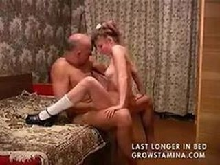Daddy Daughter Homemade Old and Young Riding