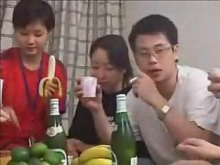 Asian Chinese Drunk Family