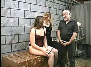 Bdsm Old and Young Stockings Threesome