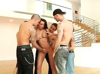 Latecia 5 Guy Gangbang & Bukkake!