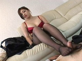 Asian Feet Fetish Pantyhose