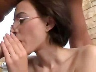 Larissa Skinny Brunette With Glasses