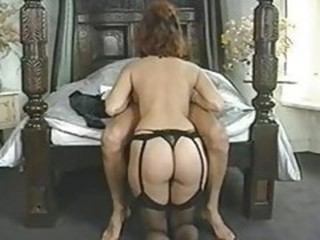 Ass Blowjob Lingerie Stockings Vintage
