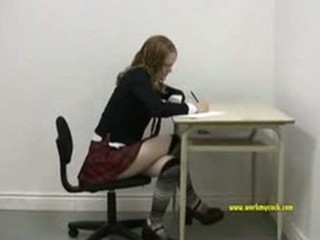 Schoolgirl Sucks A 5 Inch...