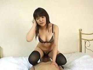 Asian Facesitting Lingerie Licking  Stockings