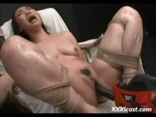 Asian Made To Orgasm Close by Power Cog-wheel