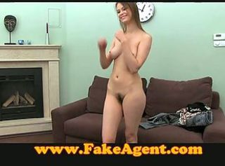 FakeAgent Shy girl hairy bush