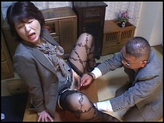 Asian Clothed Mature Stockings