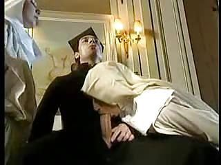 Blowjob Clothed Nun Threesome Uniform Vintage
