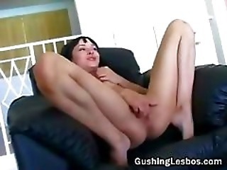 Lesbian Babe Filming Her