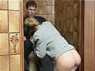 Ass Blowjob Clothed  Toilet Vintage