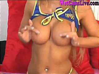 Euro Cam Girl Perfect Tits Masturbates Part 1