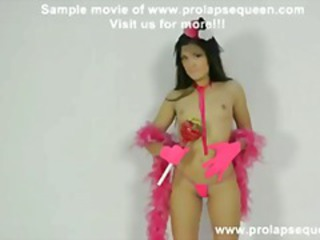 Pink candy queen anal pump plus thongs insusceptible to prolapse