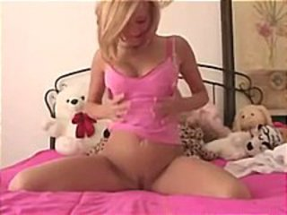 Blonde Cari Banks thing us that little pussy she toys on cam