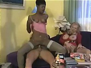 Mature Riding Stockings Threesome Vintage