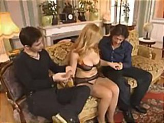 European Lingerie  Pornstar Stockings Threesome Vintage