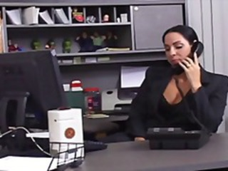 BRUNETTE MILF OFFICE SEX