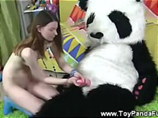 Toypanda show topless teen artist his cock