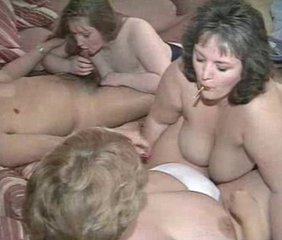 Chubby Groupsex  Natural Swingers Wife