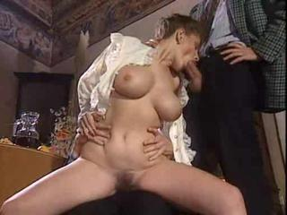 Amazing Big Tits Blowjob European French  Threesome Vintage