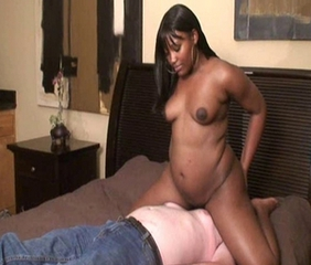 Chubby Ebony Facesitting Interracial