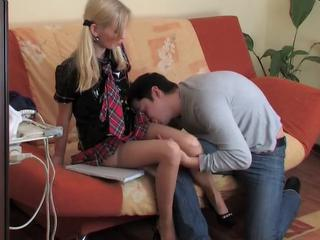 Cute Tutor Teen Okul Kizi Sucks His Dick And Then Fucks On The Couch