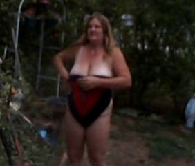 Amateur Chubby Mature Outdoor